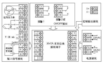 xmta系列智能数显pid调节器接线图